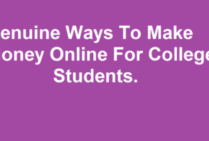 Other ways of online income for college students