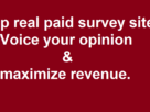 Top online paid survey sites to earn extra cash